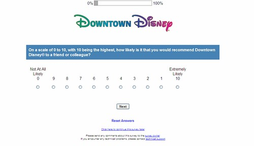 Strangely loaded Disney survey