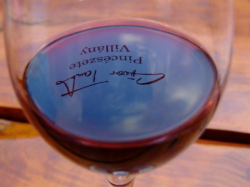 Written in wine