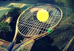 """Tennis is an addiction that once it has truly hooked a man will not let him go."" (pinkyia™) Tags: pink team tennis roro gust pinkyia pinkroro"