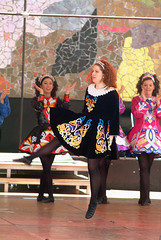 Irish step dancers at Folklife Festival, 2003 (Seattle Municipal Archives) Tags: seattle costumes dancers performingarts performers seattlecenter irishdancing 2000s folklifefestival seattlemunicipalarchives