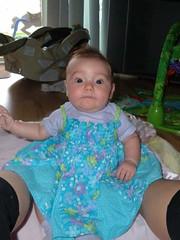 I love this dress! (B_Williams) Tags: baby leah sittingup bluedress