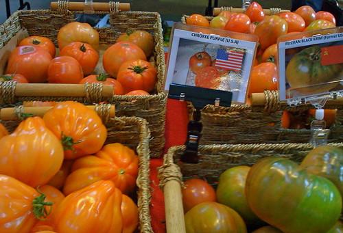 Heirloom Tomatoes at Granville Island Market
