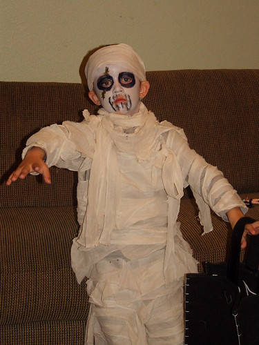 Oh no... a scary zombie mummy...
