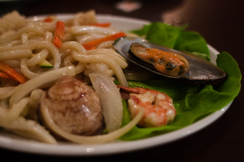 Korean BBQ: Seafood udon