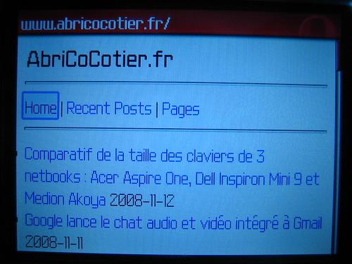 Test AbriCoCotier.fr sur Blackberry Curve 8310 1.JPG