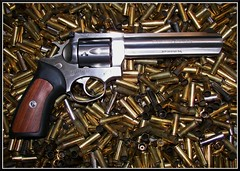 Ruger GP100 (Dusty_73) Tags: shells gun pistol shooting revolver ammo brass ammunition nra magnum spent 357 firearm ruger secondamendment gp100