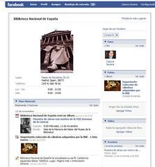 Pagina de Facebook de la Biblioteca Nacional