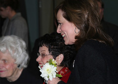 Kaczmarek arrives at the Gala.  Her mother, Evelyn, is shown on far left. (Photo by Matt Sliker)