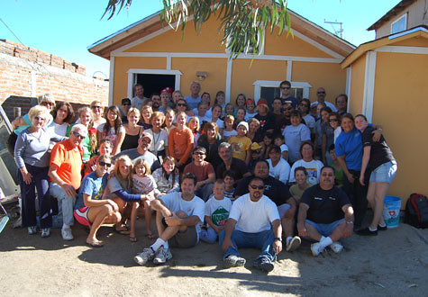 The Team with the Completed House