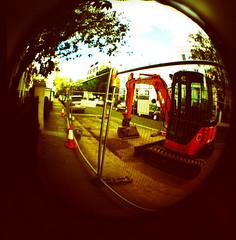 Lomo London (ckweir) Tags: london lomo crossprocess toycamera slide fisheye diana 120mm