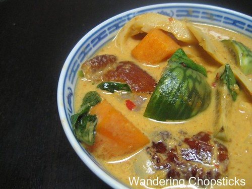 Thai Red Curry with Roast Duck, Bamboo Shoots, Eggplant, and Pumpkin 9