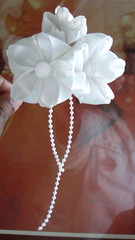 Wedding WIP2 (Random CatGirl) Tags: wedding white bride hairpin kanzashi hairornament habotaisilk randomcatgirl