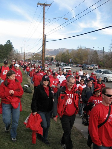 Walking down to the stadium