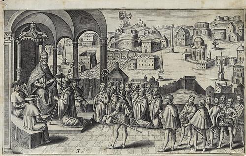 002- San Brendan postrado ante el emperador