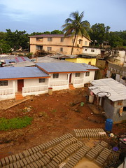 Bricks in the Yard (Karen Hlynsky) Tags: sierraleone westafrica freetown colefarm