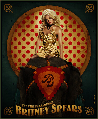 Britney Spears poster circus