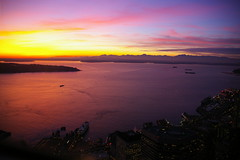 Puget Sound Sunset (Dapper Lad Cycles) Tags: seattle sunset downtown dusk fave highrise pugetsound observationdeck niceview 73rdfloor thecolumbiatower