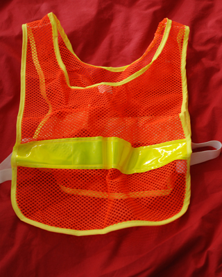 Safety Vest found in BenSpark's Big Box of Awesome!