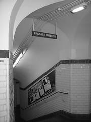 Passage Interdit (photo & life) Tags: city paris france underground subway métro ville couloir escaliers passageinterdit
