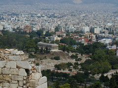 View of Greek temple from Acropolis