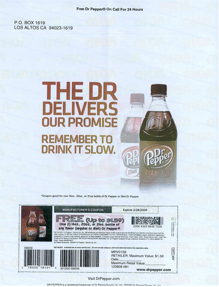 Like Dr Pepper coupons? Try these...