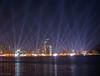 Lights in the sky of Doha (Maryam.Ibrahim) Tags: sea reflection december day national corniche 18 doha qatar