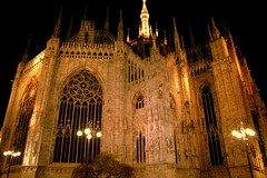Milan Cathedral (Duomo) by night (oriana.italy) Tags: italy milan architecture over x bynight goldenstatue duomodimilano lombardy gothicstyle milancathedral madunina platinumphoto theunforgettablepictures orianaitaly artofimages img384