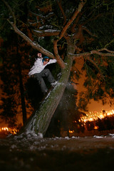 The great eagle ruling it. (fank209) Tags: seattle snow tree night snowboarding lights riding bryan snowboard westseattle westy treeride ripka westseattlegolfcourse bryanripka ripker