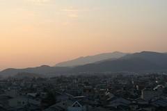 2008年12月29日、京都の夕焼け