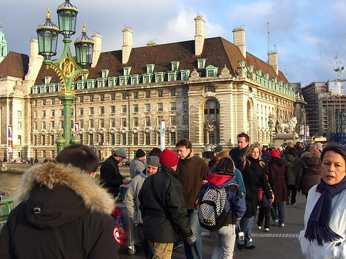 swarming tourists