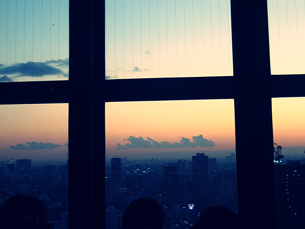 View of Sunset from Tokyo Tower