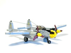 remodel (psiaki) Tags: airplane fighter lego wwii aeroplane lightning lockheed moc p38 foitsop