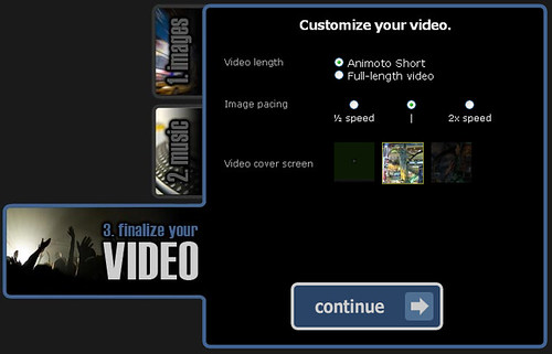 Animoto - Finalize your video