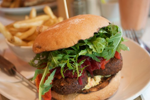 felafal burger from giraffe