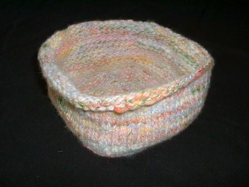 pastel knit basket side