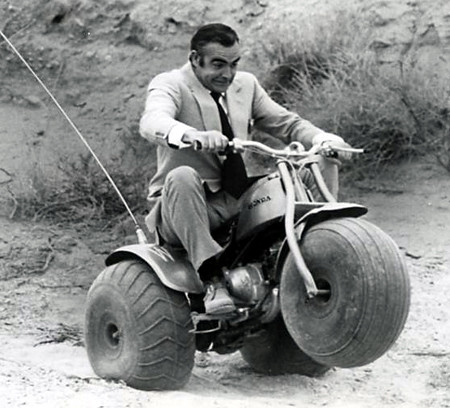 Image result for james bond three wheel bike