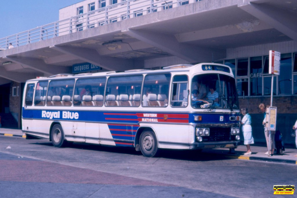 Western National Leyland Leopard 3500 KTT808P - Ply., Breton Side Bus Station - 03-07-1987#