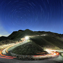() Tags: longexposure light car night taiwan     startrails  tarokonationalpark lightpaiting      blackcard  cartrail       mthehuan