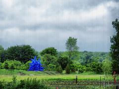 Oeno #2 (gabi-h) Tags: blue trees sky ontario grass clouds fence artgallery winery oeno princeedwardcounty huffs gabih