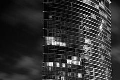 Tower (jtweed) Tags: england london tower monochrome architecture night europe event canarywharf isleofdogs londonflickrmeetups upcoming:event=8040254