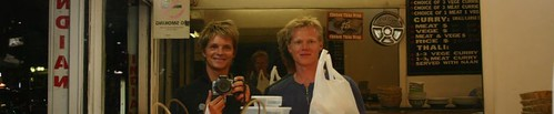 Nicolai and Jens in a Indian take-away, Kings Cross - Sydney.