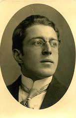 Pince-nez  2 (pince_nez2008) Tags: portrait nose glasses postcard handsome collar eyeglasses 1917 lenses eyewear eyeglass rimless pincenez noseclip youngmanwearingpincenez noseeyeglasses