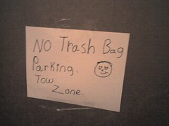 No Trash Bag Parking (alist) Tags: signs trash mit alist starbucks cambridgemass 02139 robison alicerobison ajrobison