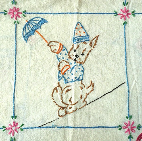 Circus Doggie Embroidery