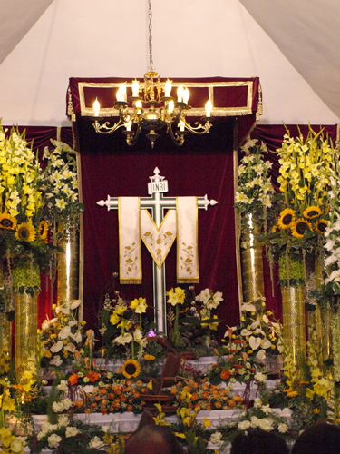 Dressed cross in Los Realejos Alto on 3rd May 2008