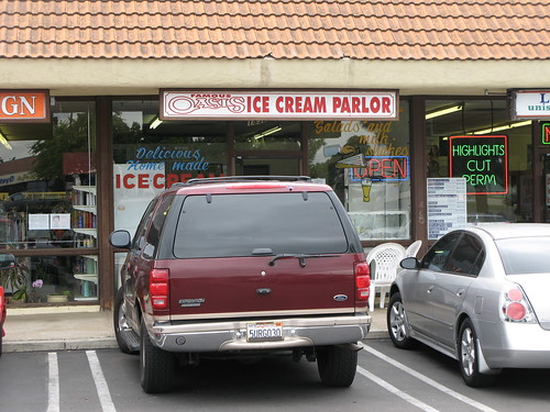 Oasis ice cream in Imperial Beach