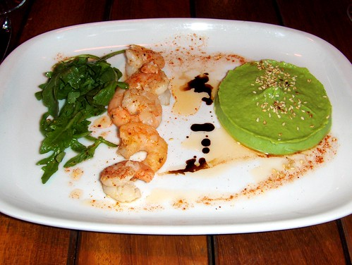 "Shrimp and pea ""guacamole"""