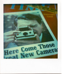 Here Come Those Great New Cameras (Viv | Seattle Bon Vivant) Tags: history sx70 story cover collectible expired memorabilia timezero timemagazine polaroidsx70 closeuplens 599 tobeframed june261972 dredwinland themostbasicformofcreativity herecomethosegreatnewcameras