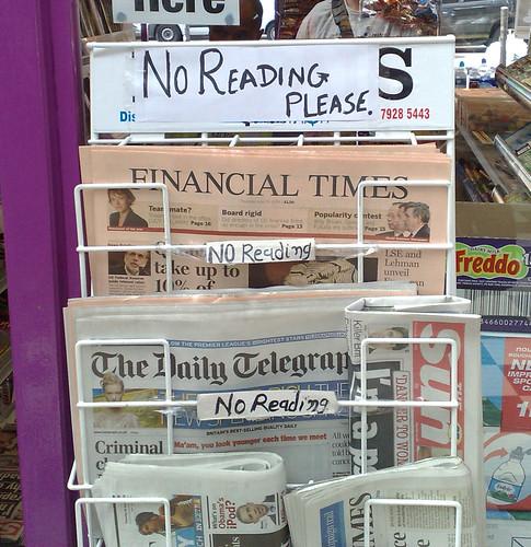 NO READING PLEASE