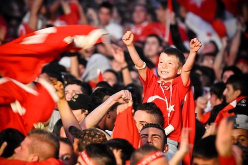 Fanfest: Halbfinale - Deutschland gg. Türkei